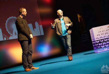 Cyrus Shepard a Jindrih Faborsky na Marketing Festivalu