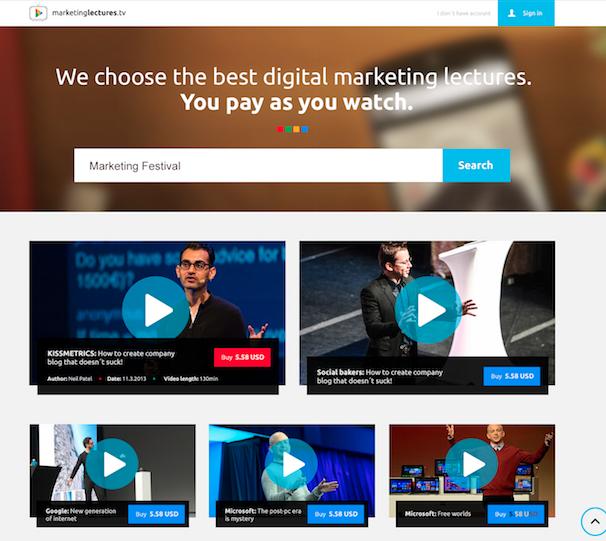 Náhled nové služby MarketingLectures.tv
