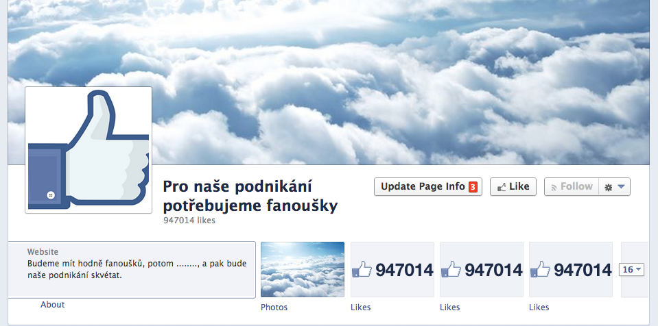 Facebook fanoušci